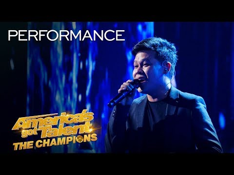 WOW Marcelito Pomoy Sings The Prayer With DUAL VOICES America's Got Talent The Champions
