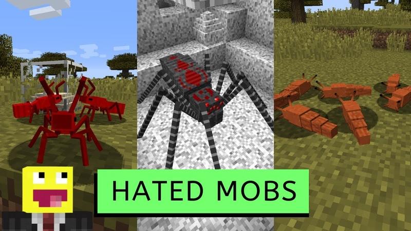 Hated Mobs Minecraft Отвратительные мобы в Майнкрафт Обзоры модов для Minecraft