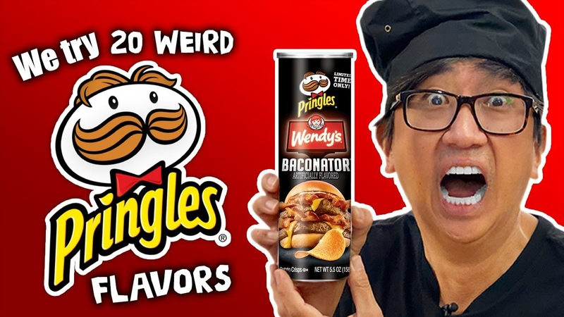20 WEIRD Pringles Flavors Feat Wendy's Baconator