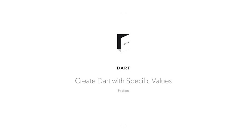 Create Dart with Specific Values Position (Вытачки)