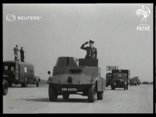 RAF rehearses for Victory Day parade (1946)