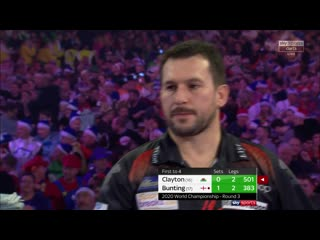 Jonny Clayton vs Stephen Bunting (PDC World Darts Championship 2020 / Round 3)