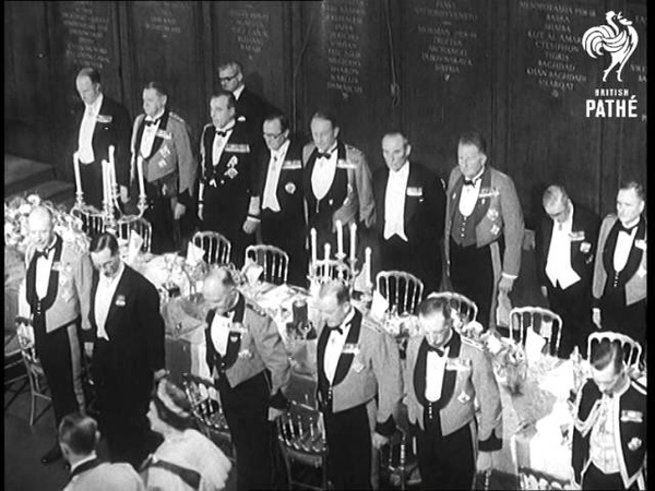 Queen Dines With Army 1956