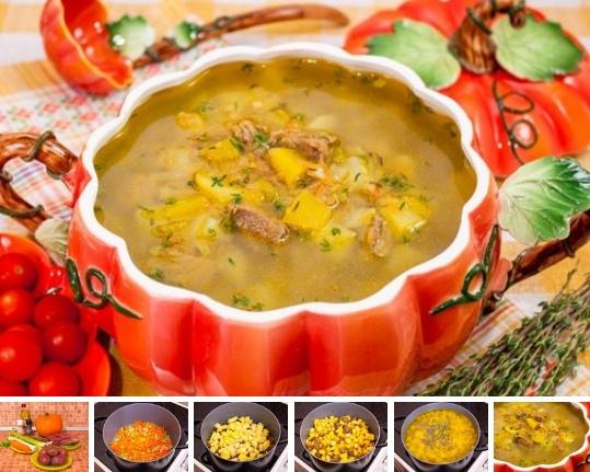 Суп с тыквой «Краски осени»