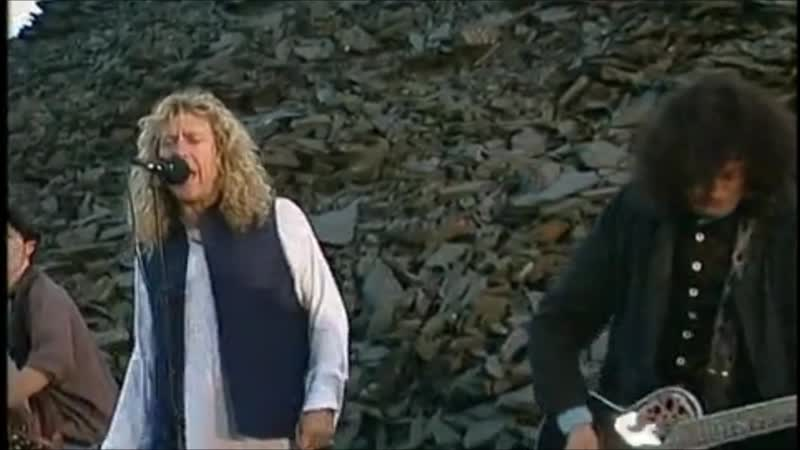 Jimmy Page and Robert Plant Nobody's Fault but Mine On top of a waste tip at a slate quarry in Wales 17 August 1994