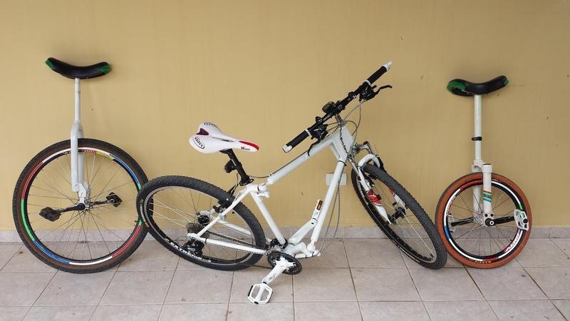 Monociclo e Bicicleta Articulada Tirando onda em 3 passos