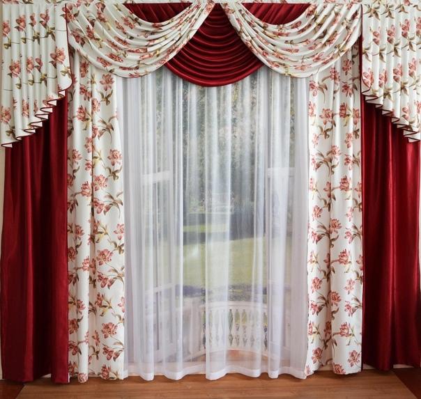 Комплекты штор для зала фото