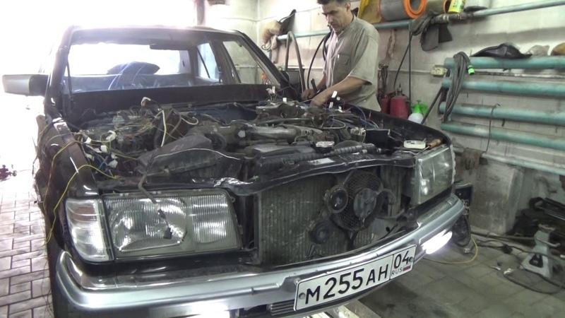 Мерседес W126 на1jzge vvti ч. 5 первый выезд.