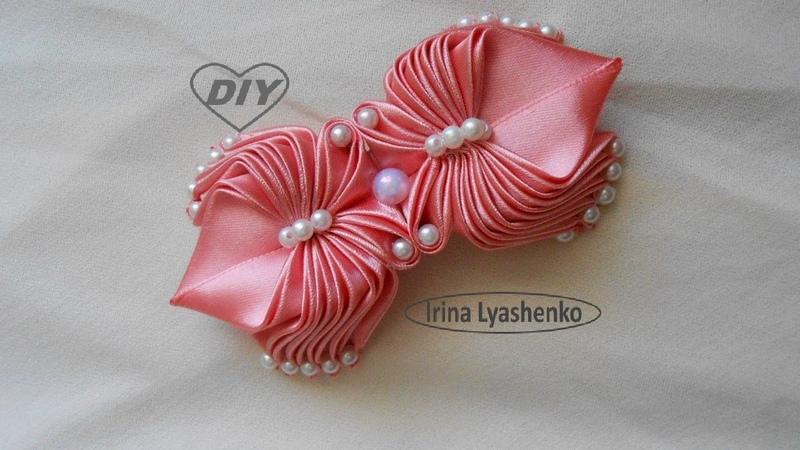 Бант из атласной ленты МК DIY Satin Ribbon Bow PAP Laço de fita de cetim 206