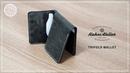 [LeatherCraft] Making a Tri-fold wallet DIY wallet PDF pattern