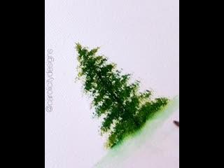 Рисуем елочку с детьми к Новому году.mp4