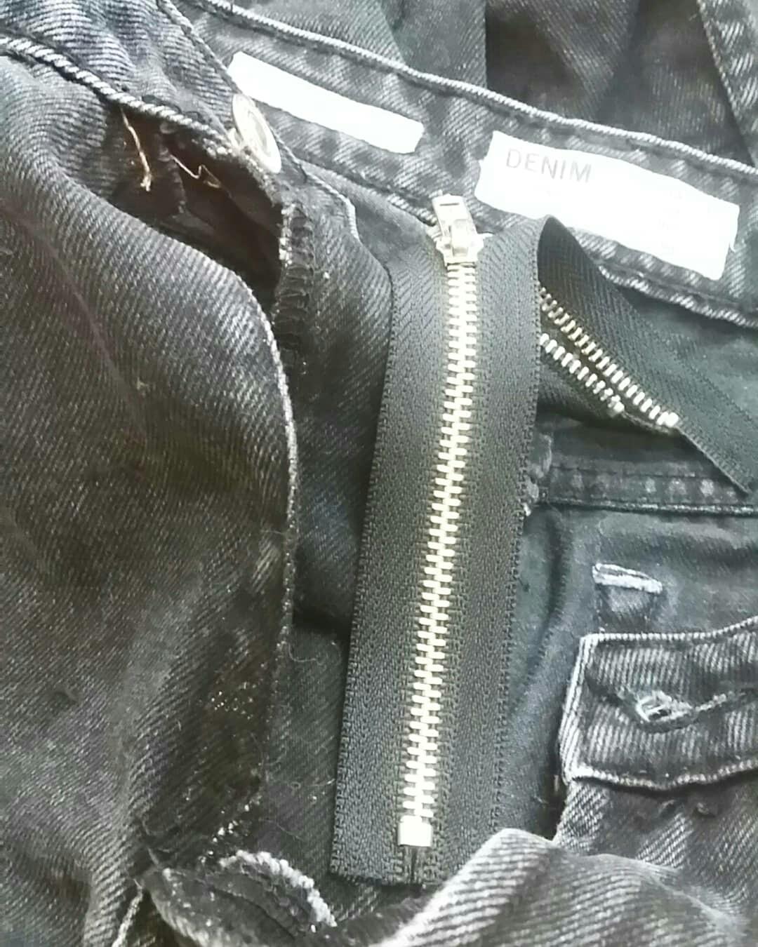Меняем молнию в джинсах.