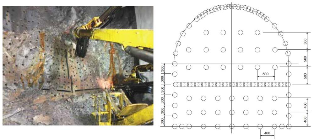 Схема бурения породы при строительстве тоннелей
