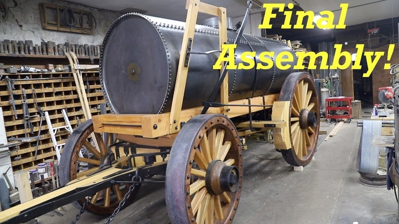 Borax Water Wagon Final Blacksmithing Assembly Engels Coach