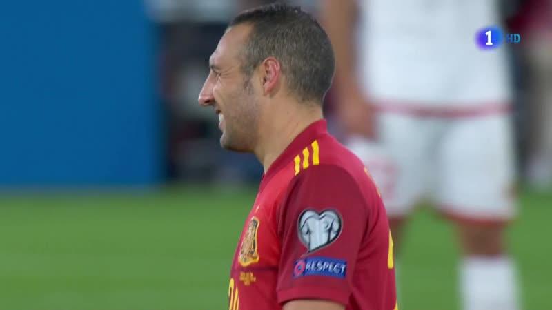 España vs Malta partido clasificatorio Eurocopa 2020 comienzo 2a parte vlc-record-2019-11-15-21h47m21s-La 1 FHD TDT-