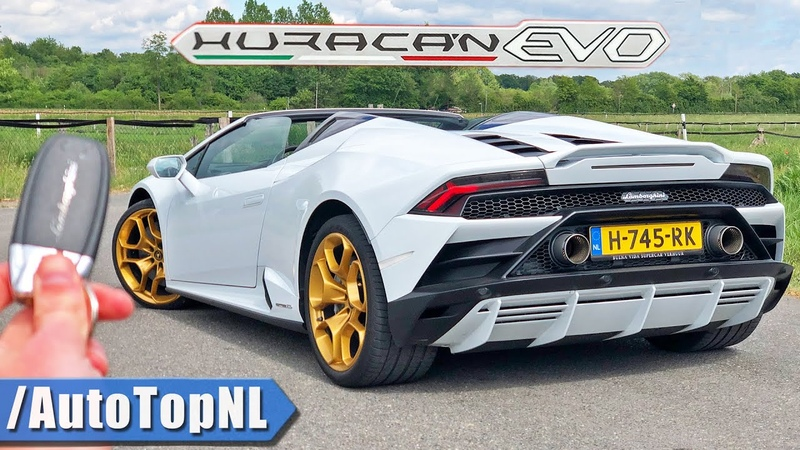 Lamborghini Huracan EVO Spyder REVIEW on AUTOBAHN NO SPEED LIMIT by AutoTopNL