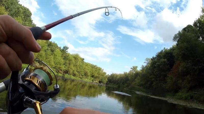 Рыбалка сплавом по реке Много поклевок в День Рыбака