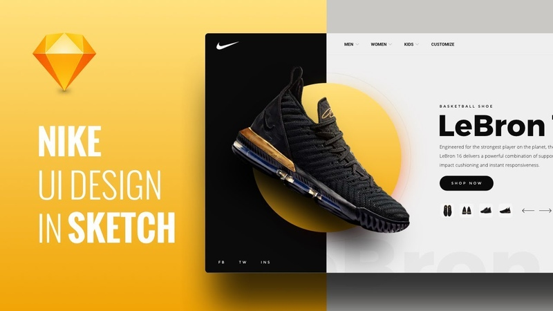 Design Nike Web App UI in Sketch - Speed Art Tutorial