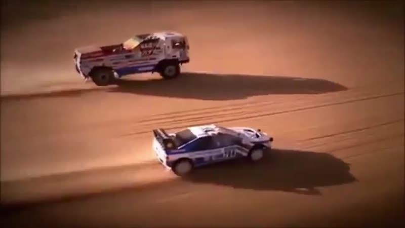 """Peugeot 405 Turbo 16 Ari Vatanen"""" vs DAF 95 Turbo twin Jan De Rooy"""""""