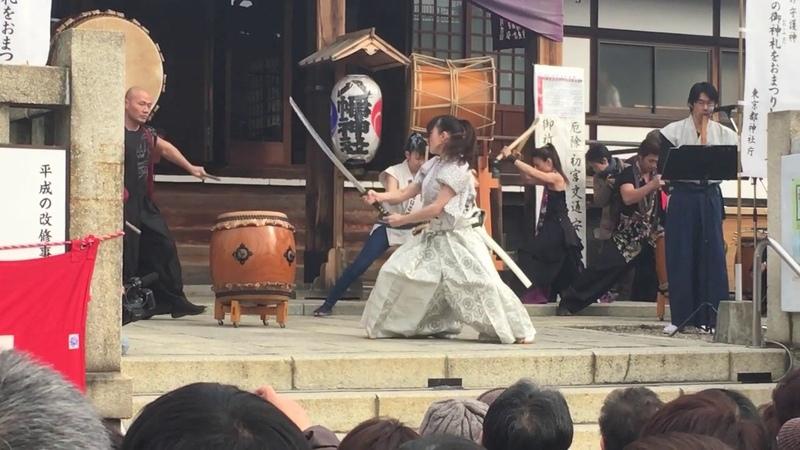 KAORI KAWABUCHI's Sword dance in Shurine