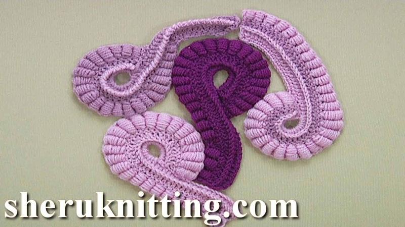 How to Crochet Freeform Element Tutorial 26