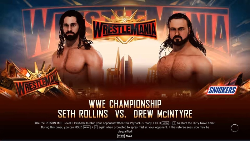 Seth Rollins Vs Drew mcintyre match in wrestlemania This Has Never Happened Before in wwe