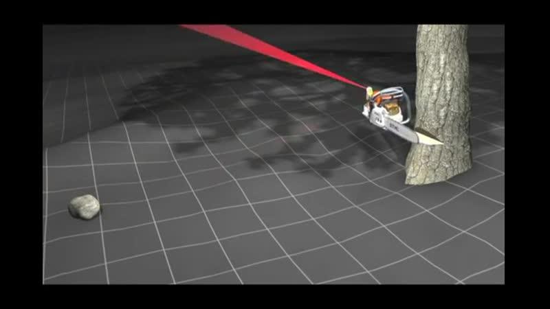 STIHL Laser 2-in-1 - указатель направления рубки и направляющая для резки в одном
