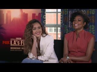 LAS FINEST- Jessica Alba Mimics Gabrielle Union's 'Mirror Face