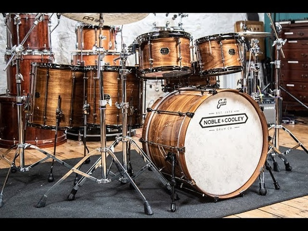 Noble Cooley Walnut Classic Shell Pack And Matching Snare Drum Drummer's Review