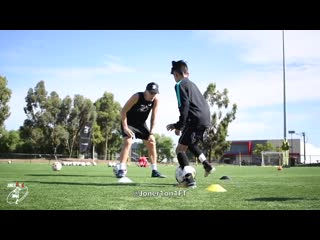 9 year old Beckham FULL Soccer Session - Nike Athlete - Joner 1on1 Football Training