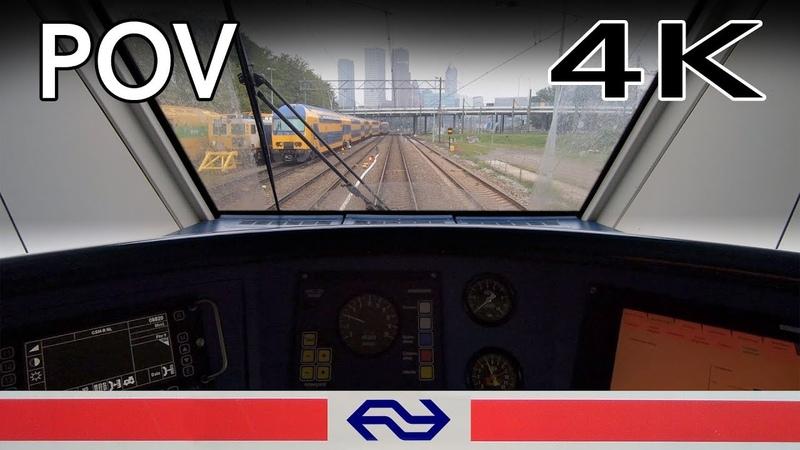 TRAIN DRIVERS POV Gouda Goverwelle - De Haag SLT 14aug 2019