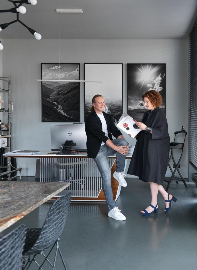 Рабочее место: офис архитектурного бюро Олега Клодта и Анны Агаповой