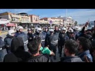 Tension as more migrants reach Greek island