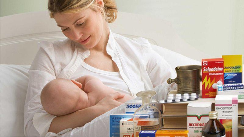 Какие выбрать препараты при простуде кормящей маме?