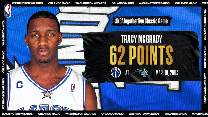Wizards @ Magic Tracy McGrady explodes for career high 62 PTS on March 10 2004 NBATogetherLive