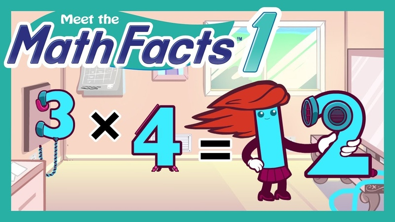 Meet the Math Facts Multiplication Division - 3 x 4 = 12