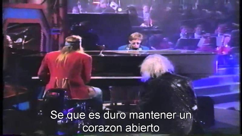 Guns N Roses - Elton John - November Rain - Subtitulado Español