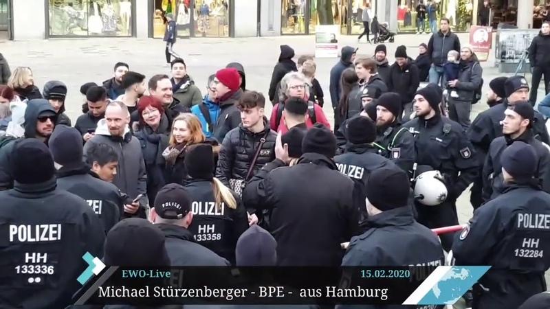 Nazi-Spuk im Kopf von Linken in Hamburg - BPE-Kundgebung Hamburg