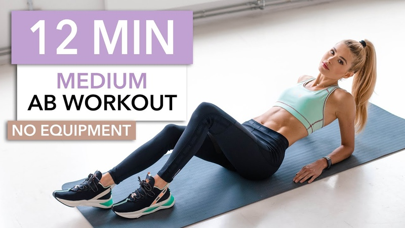 12 MIN AB WORKOUT Medium Level No Equipment I Pamela Reif