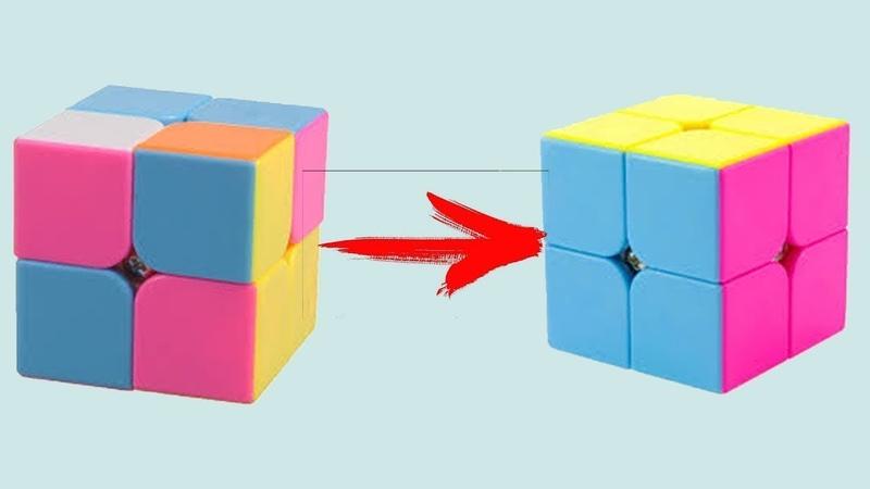 Лёгкий способ как собрать кубик рубика 2x2. Обучалка!