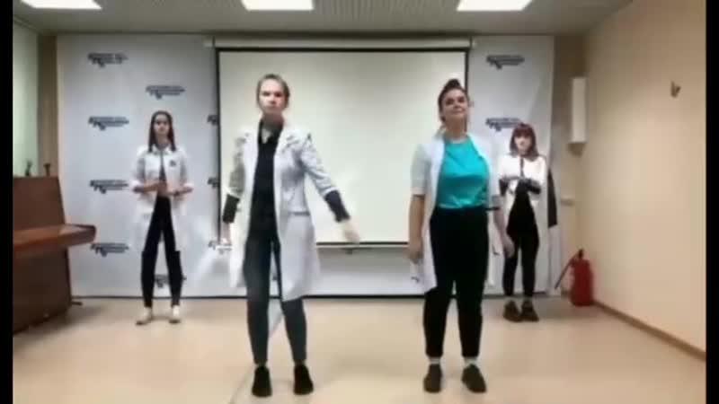 Студенты Кольского медицинского колледжа на интерне конкурс флешмоб Руки Мыть