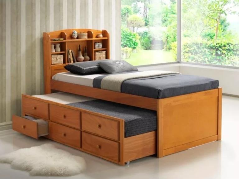 Плюсы и минусы двухъярусных выдвижных кроватей, популярные дизайны, изображение №3
