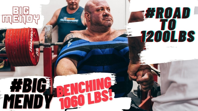TEAMMENDY Episode 4 SCOT MENDELSON BENCH PRESSES 1060LBS ON THE ROAD TO 1200LBS RoadTo1200