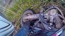 Bad dirtbike crash!(foot stuck in back tire)