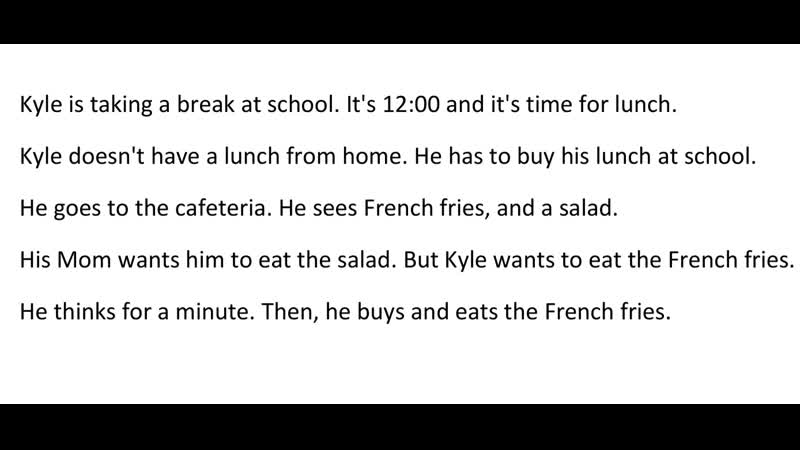 Mini Stories | Story 19 - Kyle is Taking a Break at School | 19 A