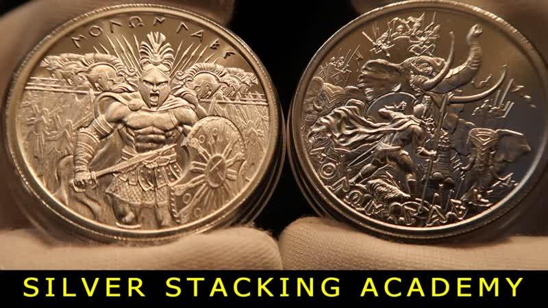 Обзор серии серебряных раундов Molone Labe Спартанцы про во США