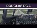Microsoft FS9 Flight 4 Quick Circuit in the MAAM-SIM Gooney Bird DC-3