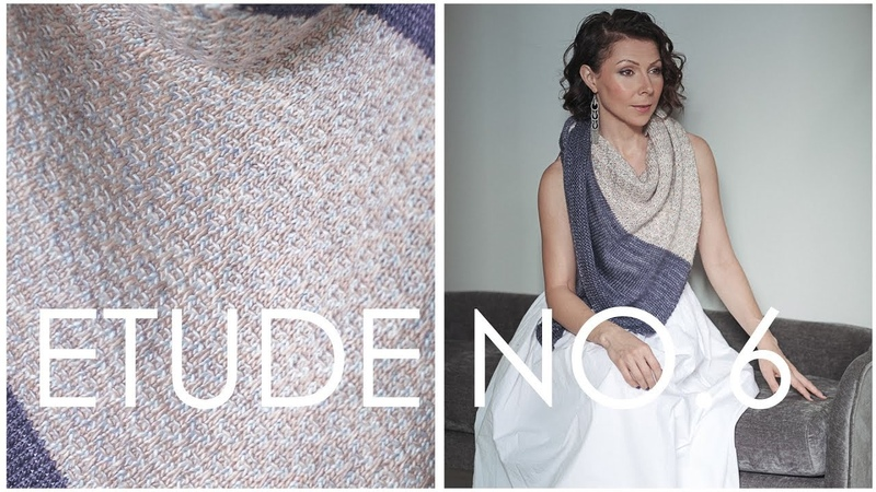 Learn Easy Mosaic Knitting - How to Knit this Stunning Etude NO 6 Shawl Pattern!