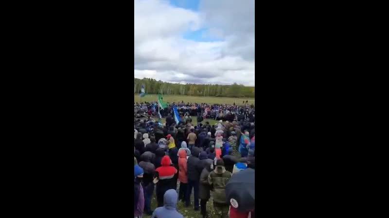 Сход жителей села Аскарово против возведения карьера по добычи меди
