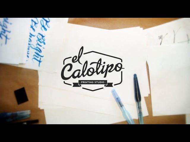 Workshop Lettering caligrafía con Brush Pen y Serigrafía